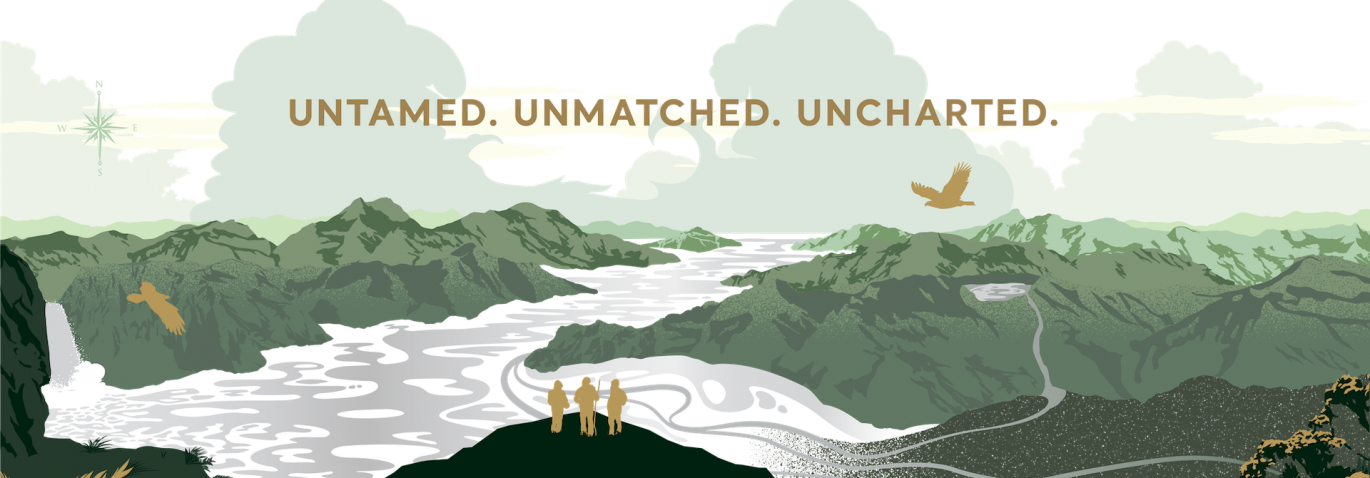 Image of Marlborough-inspired artwork from the Giesen Uncharted wines label